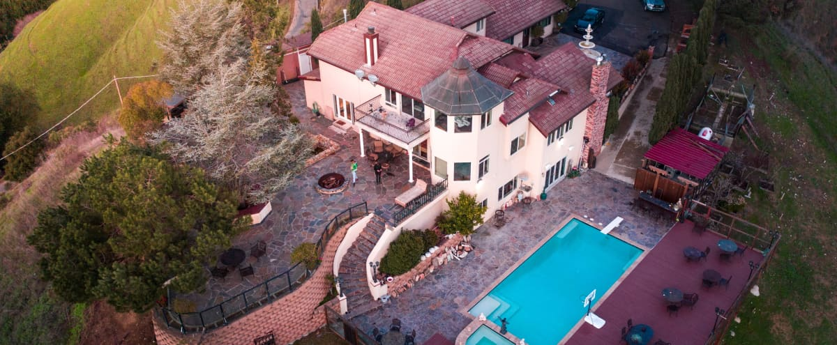 Mansion with 360 views with a pool / bar / waterfall in doors in Castro valley Hero Image in undefined, Castro valley, CA
