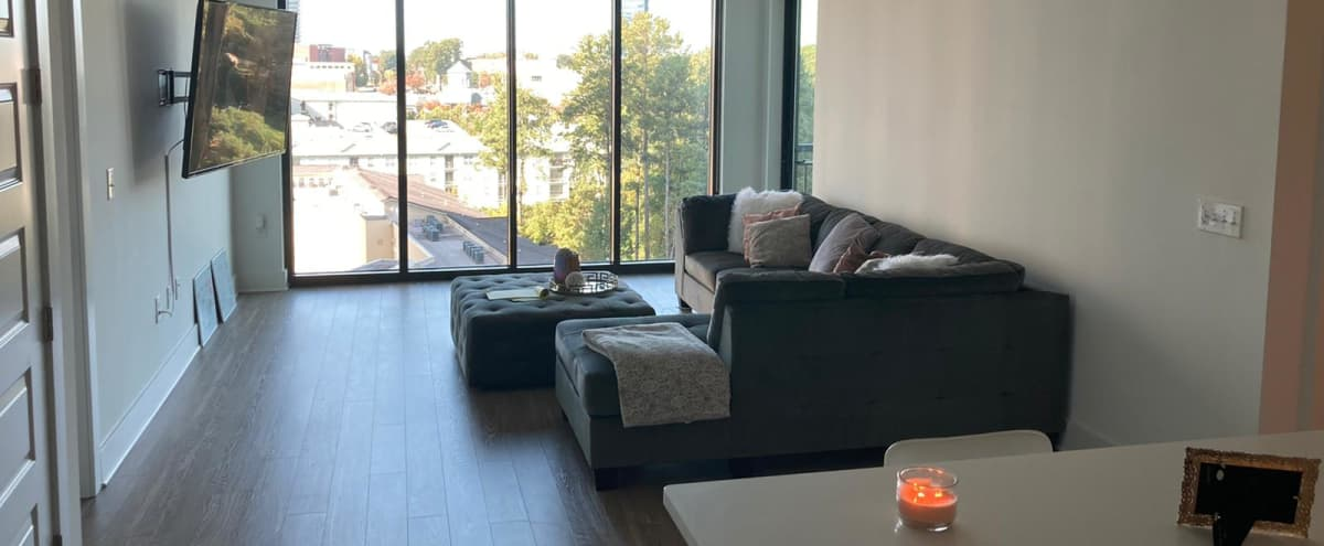 Buckhead Apartment with Floor to Ceiling Windows in Atlanta Hero Image in Buckhead, Atlanta, GA