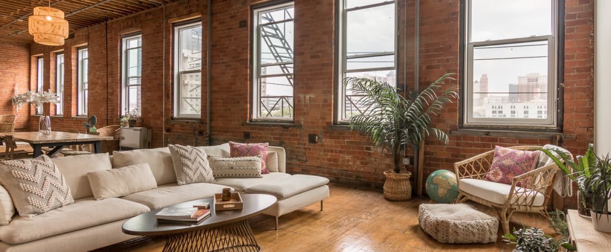 Industrial-Chic Loft ❤️  Natural Light Studio w/ Downtown Detroit Views in Detroit Hero Image in West Side Industrial, Detroit, MI