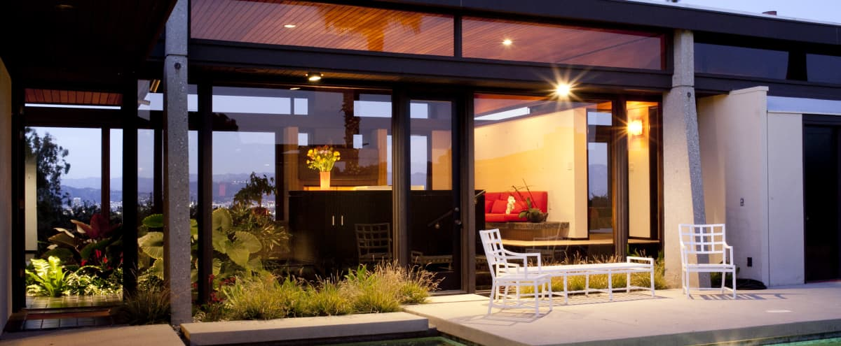 Unique Chinese Post & Beam with Stunning Views in Los Angeles Hero Image in South Los Angeles, Los Angeles, CA