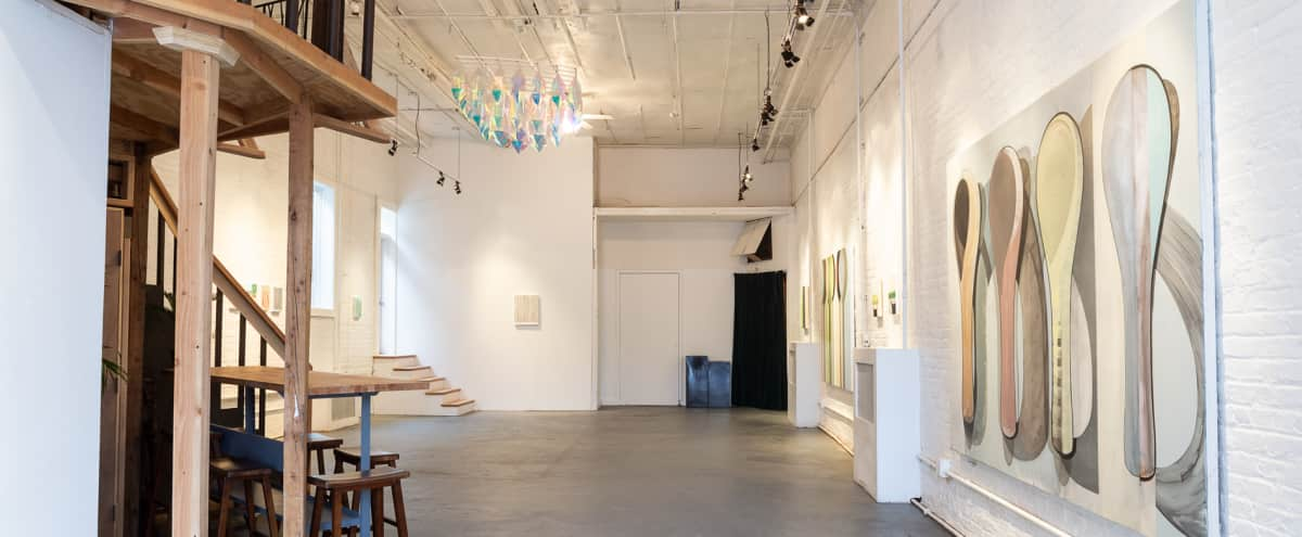 Modern White-Brick Gallery Space in Brooklyn Hero Image in Williamsburg, Brooklyn, NY
