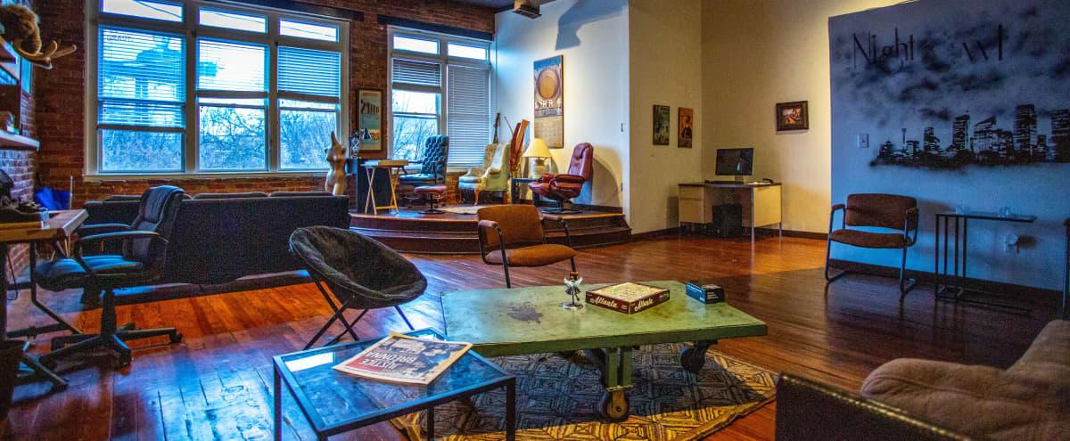 UNIQUE loft space, ECCENTRIC Aesthetic with SKY LINE Views in Atlanta Hero Image in Sweet Auburn, Atlanta, GA