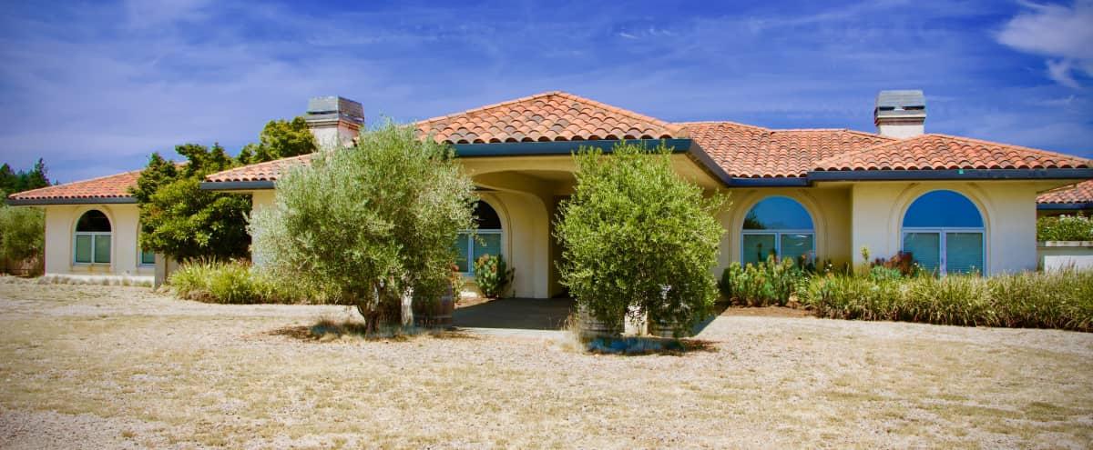 Mediterranean Villa w/ Vineyard Views & Private Lake in Sebastopol Hero Image in undefined, Sebastopol, CA