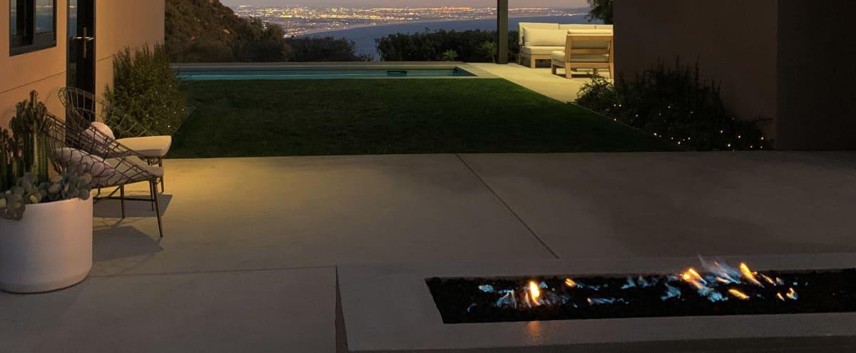 Ocean-view modern outdoor living space in Topanga Hero Image in undefined, Topanga, CA