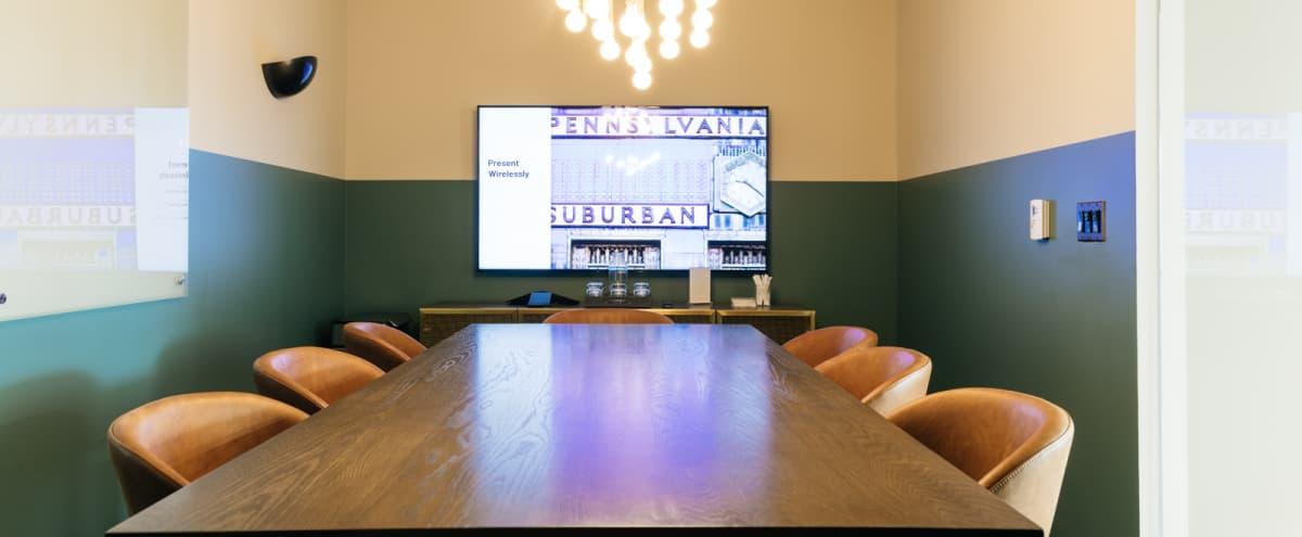 Elegant 8 Person Conference Room - Downtown - Whiteboard - TV in Philadelphia Hero Image in Logan Square, Philadelphia, PA