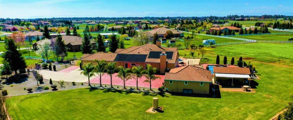 """*LOOK* Sacramento Area, Cozy & Comfy """"Farmhouse Estate."""" 3 acre Landscaped, Gorgeous Pool, 20+ cars parking, 5000 sq. ft. House in Wilton Hero Image in Clay Station, Wilton, CA"""
