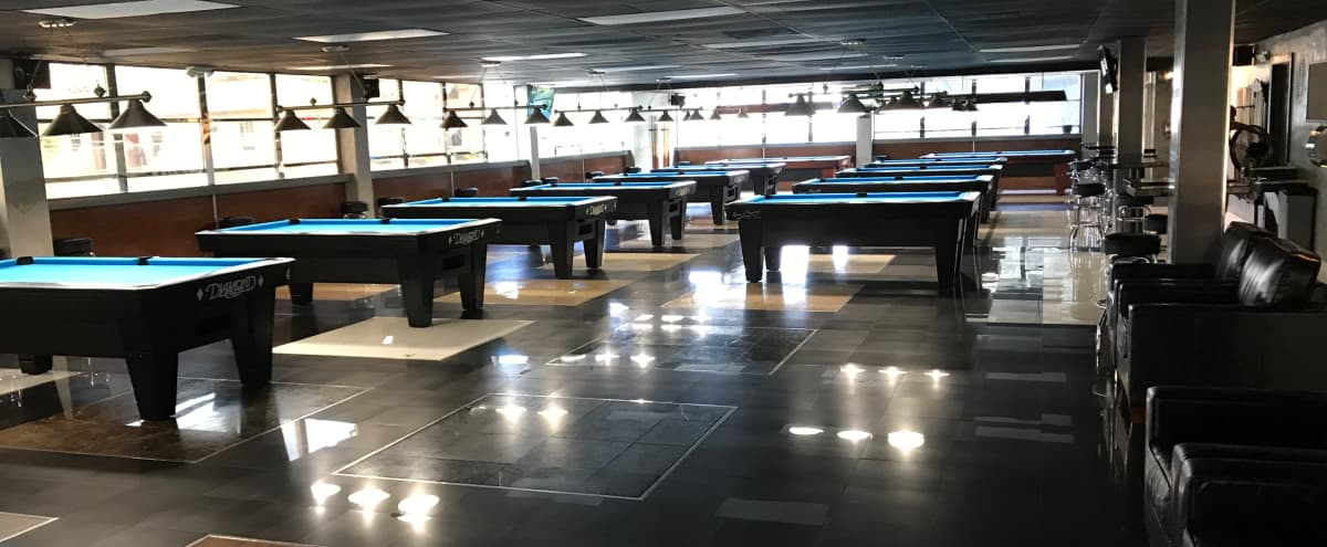Billiards Hall with Bar Area for Film Shoots - Upper East Side in Miami Hero Image in Upper East Side, Miami, FL