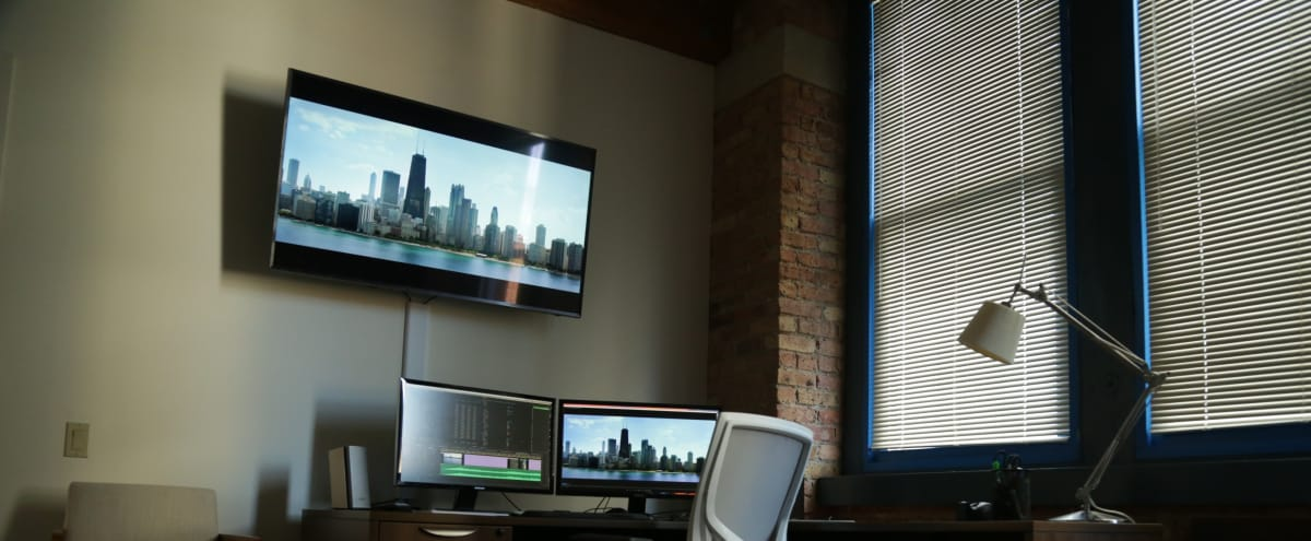 Urban Private Office and Edit Suite in River North in Chicago Hero Image in River North, Chicago, IL