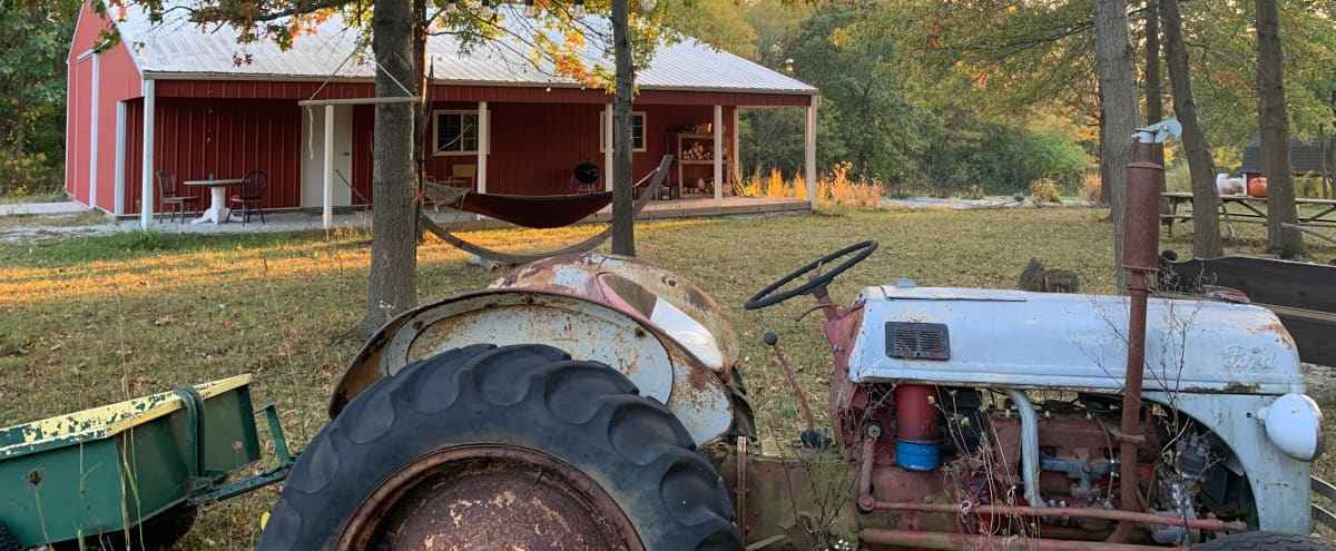 OPEN AIR 1500 square foot barn w/rustic fire pit and hiking trails near Chicago in Monee Hero Image in undefined, Monee, IL
