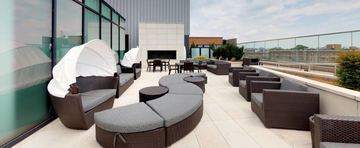 Rooftop Lounge and Dining Room with Stunning View of Down Town DC in Washington Hero Image in Cardozo Shaw, Washington, DC