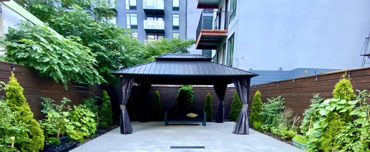 Sunny Brooklyn Oasis with Garden and Gazebo in brooklyn Hero Image in Bridge Plaza, brooklyn, NY