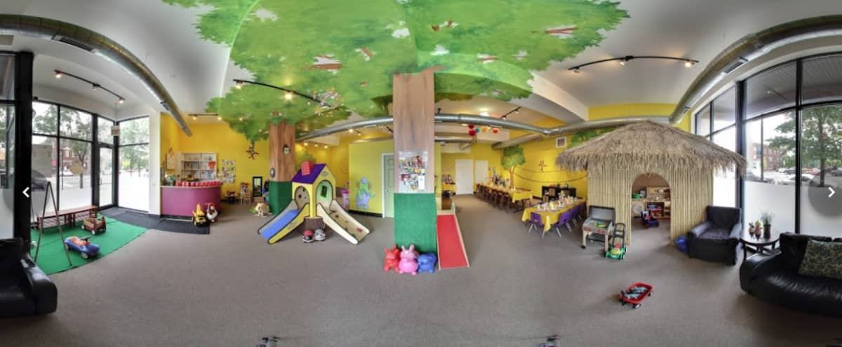 Upscale Children's Playroom Ideal for Birthday Parties and Baby Showers in Chicago Hero Image in Logan Square, Chicago, IL