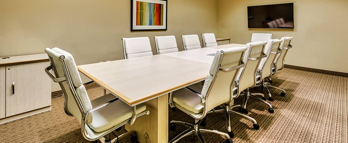Prestigious Conference Room For 10 Located in Heart of the Biltmore in Phoenix Hero Image in Camelback East Village, Phoenix, AZ