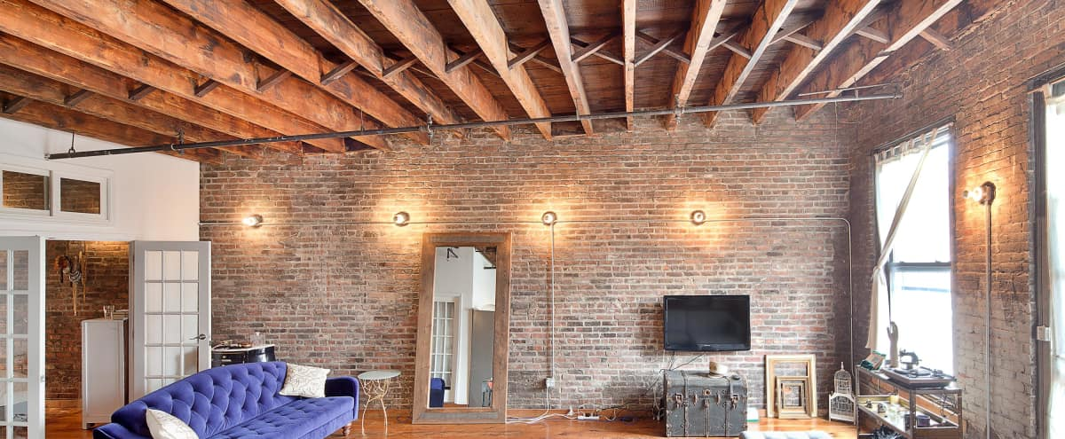Sun Drenched Bowery Loft in LES in New York Hero Image in Lower Manhattan, New York, NY