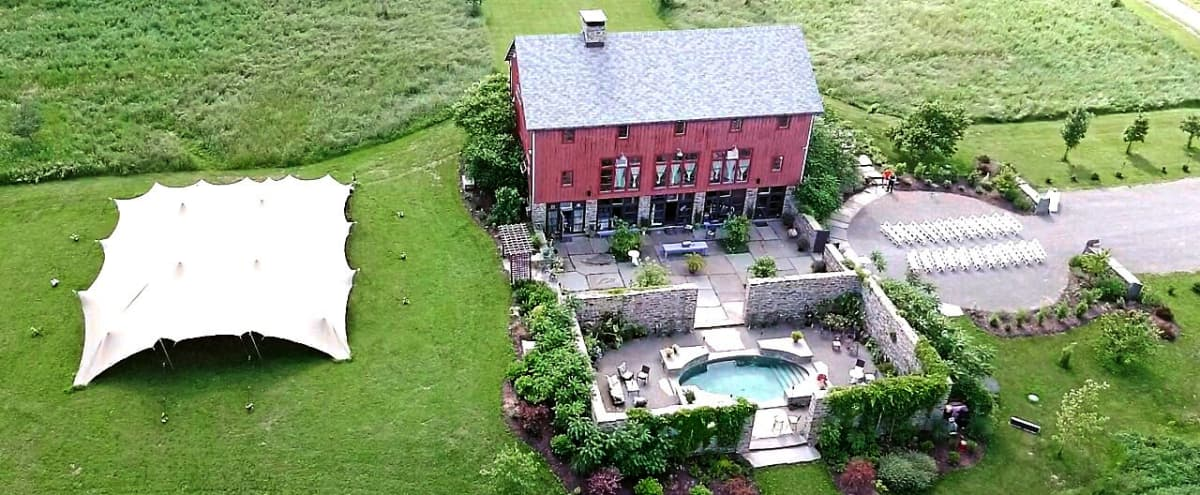 Elegant 3 Story Barn With Tuscan Stone Courtyards and Massive Fireplaces. in Newfield Hero Image in undefined, Newfield, NY
