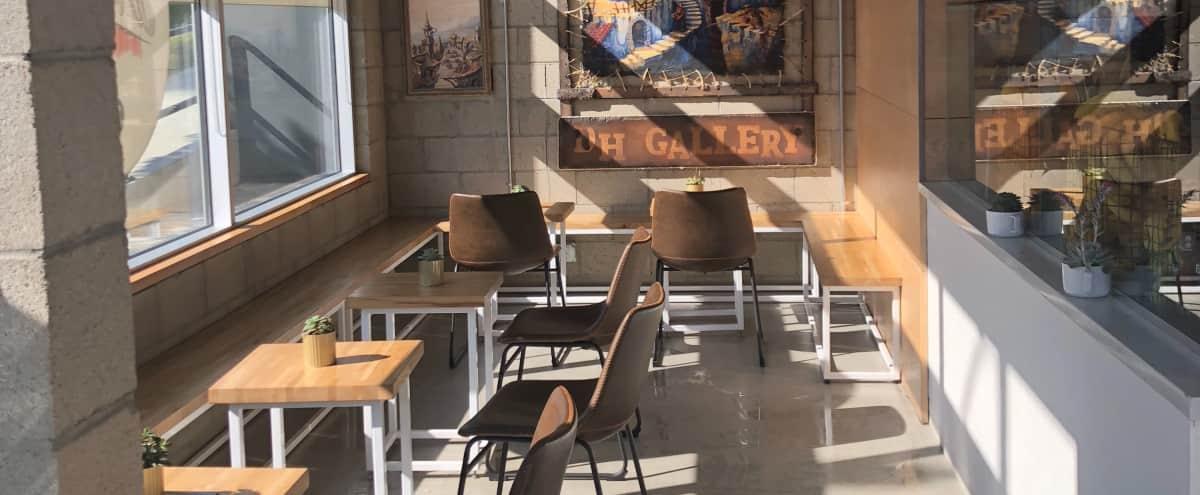 Artsy industrial juice/coffee bar in Los Angeles Hero Image in Central LA, Los Angeles, CA