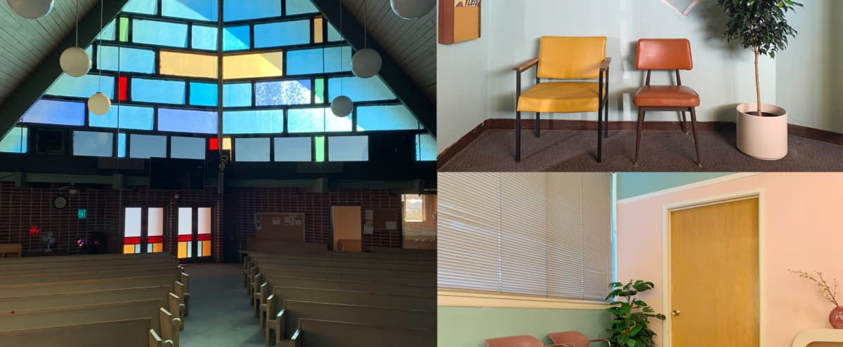 Architectural Mid Century Church, Garden & 80's Waiting Room in Canoga Park Hero Image in Canoga Park, Canoga Park, CA
