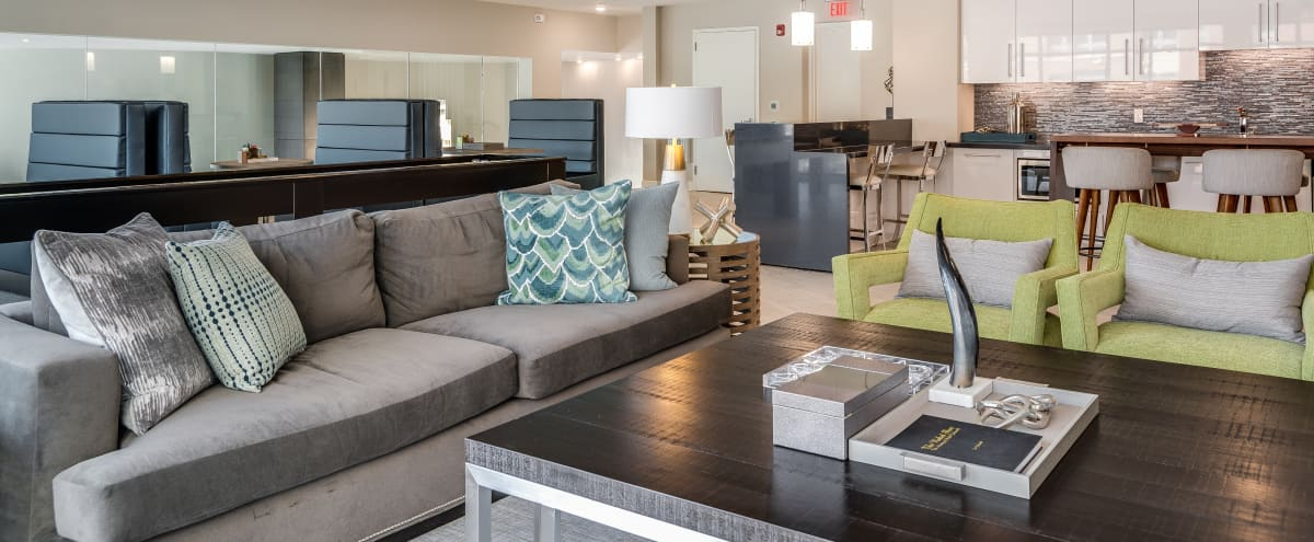 "Loft-Style Event Space with Entertaining Kitchen, lounge seating, 70"" inch television, co-working space and more! in Gaithersburg Hero Image in undefined, Gaithersburg, MD"