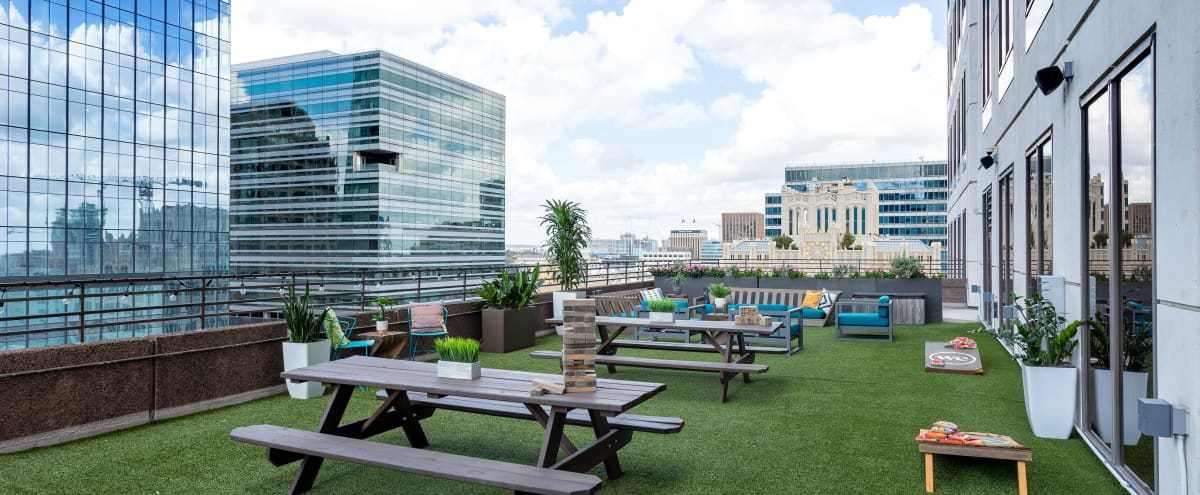 Massive, luxurious outdoor terrace with views of Downtown Austin in Austin Hero Image in Downtown Austin, Austin, TX