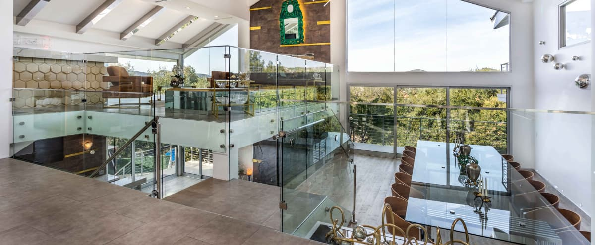 The Contemporary Glass Mansion Surrounded by a Zen Resort-Like Backyard & Endless Views in Westlake Village Hero Image in undefined, Westlake Village, CA