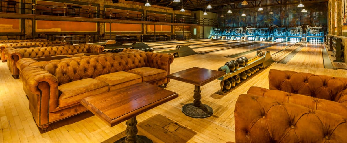 Historic Steam Punk Bowling Alley in Los Angeles Hero Image in Highland Park, Los Angeles, CA