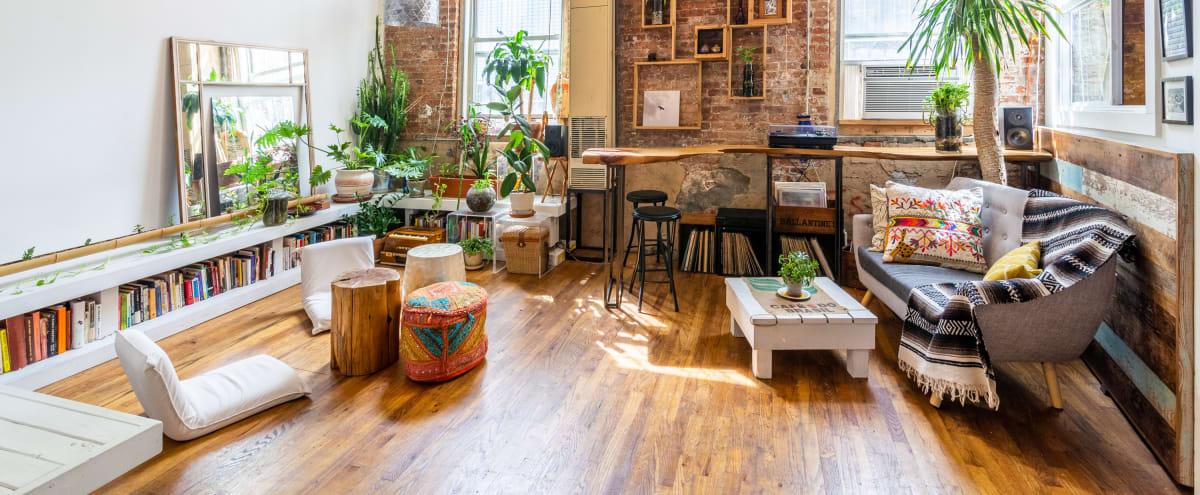 Cozy, Creative, Sunny — Bohemian Factory Loft in Brooklyn Hero Image in Bushwick, Brooklyn, NY