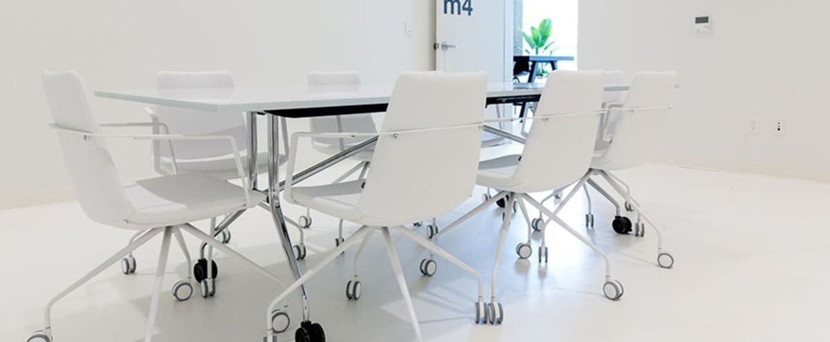 Unique All-White Meeting Room | M4 in Portland Hero Image in Southwest Portland, Portland, OR