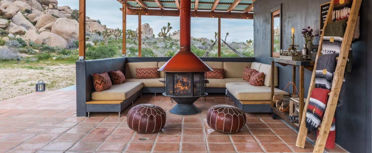 Private  mid-century rustic ranch set in a Joshua Tree park like setting in PIONEERTOWN Hero Image in undefined, PIONEERTOWN, CA