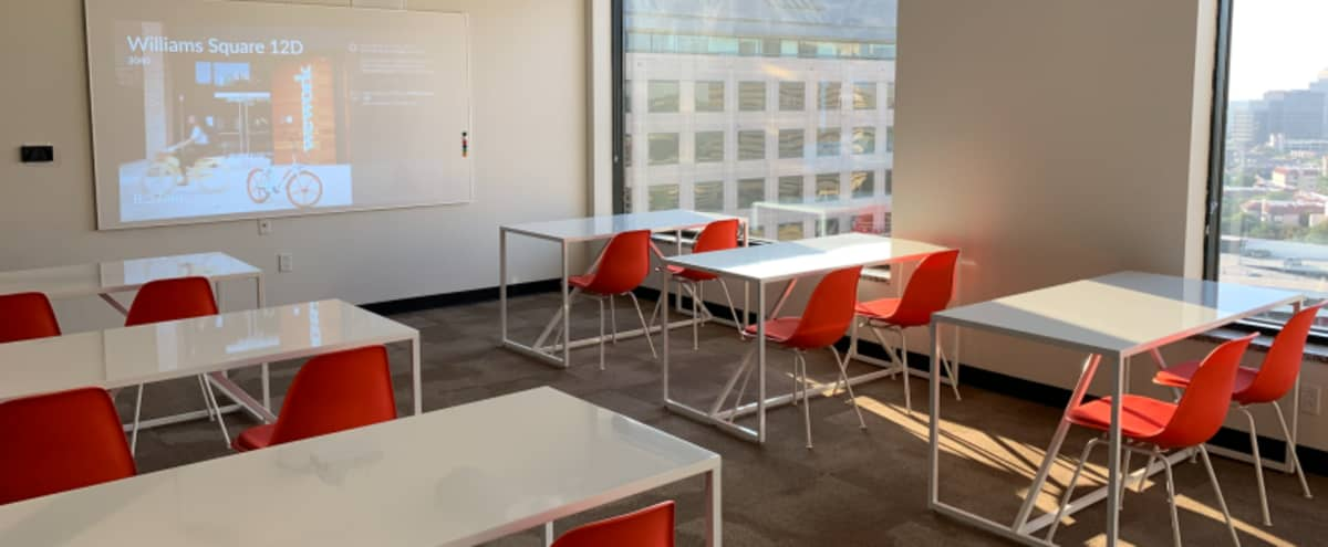 Classroom Style Meeting Room for 18 near DFW in Irving Hero Image in Las Colinas, Irving, TX