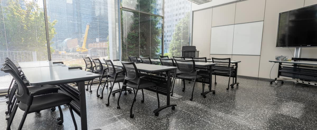 Light-Filled Urban Classroom, Lecture, or Meeting Space for 14–35 in South Lake Union (Bullwinkle) in Seattle Hero Image in Belltown, Seattle, WA
