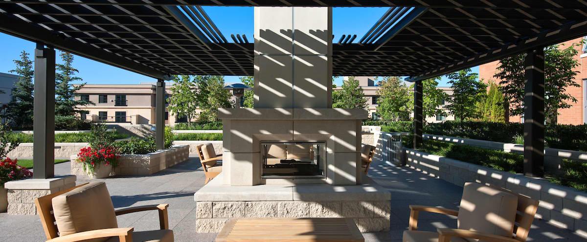 Bellevue Outdoor Terrace with Club Room in Bellevue Hero Image in Northwest Bellevue, Bellevue, WA