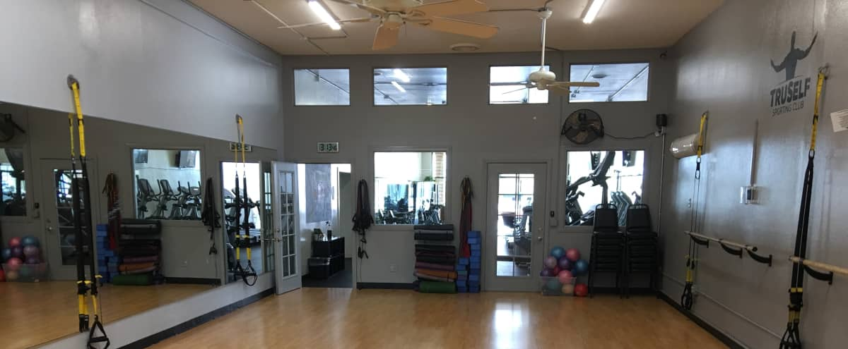 New Gym Space, Group Exercise Room, Weight Room, Locker Rooms, Cardio Room, Great Lighting, High End, Spacious in San Diego Hero Image in Allied Gardens, San Diego, CA