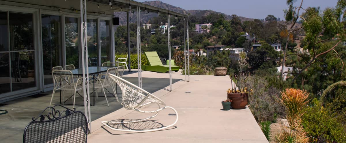 Mid-century Beauty in Beachwood Canyon with Views of the City and the Hollywood Sign in Los Angeles Hero Image in Central LA, Los Angeles, CA