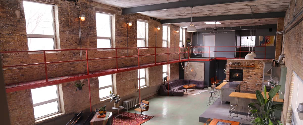 Converted Factory Designer Loft Building on Fully Landscaped Double Lot in Chicago Hero Image in Kilbourn Park, Chicago, IL