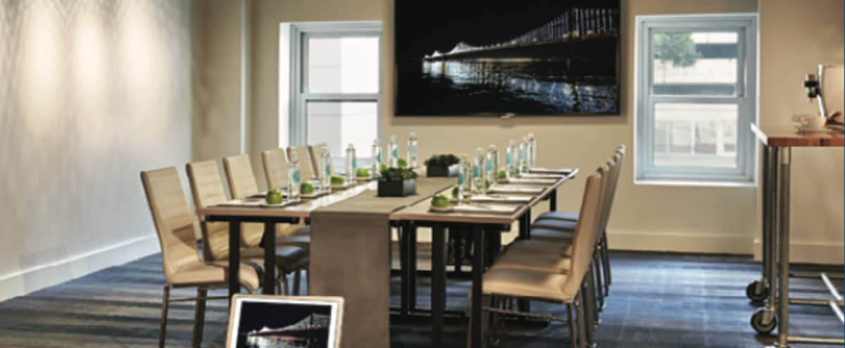 Modern Luxury Meeting Room Near Moscone Center - Demo in San Francisco Hero Image in Yerba Buena, San Francisco, CA
