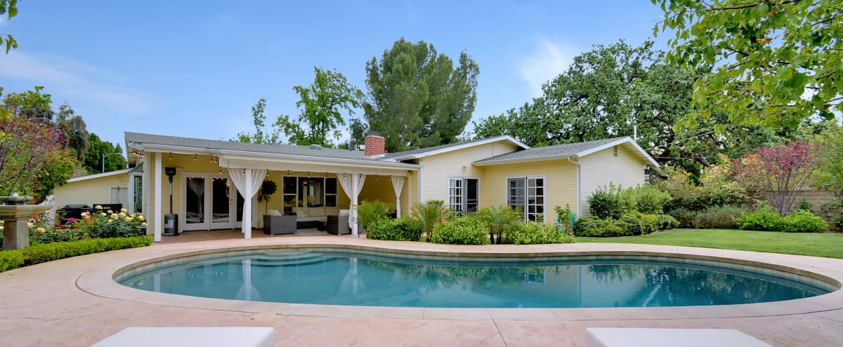 Charming Traditional Ranch Style Home with Lush Backyard and Pool in Chatsworth Hero Image in Chatsworth, Chatsworth, CA