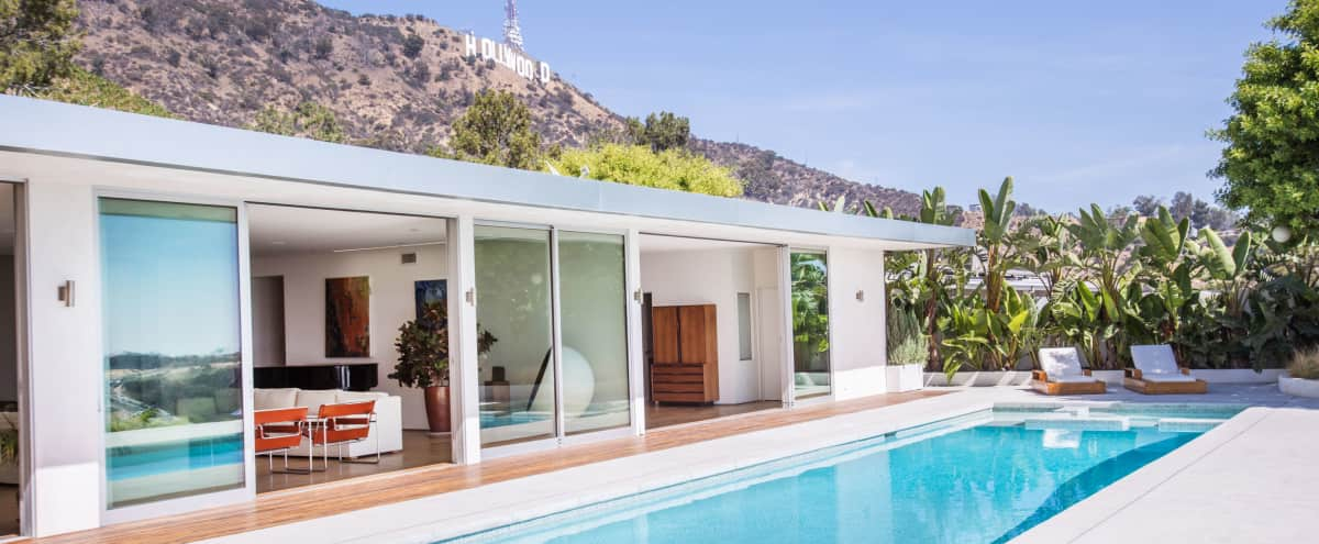 Mid Century Modern House, located in the Hollywood Hills (Views, Pool, Hollywood Sign) in Los Angeles Hero Image in undefined, Los Angeles, CA