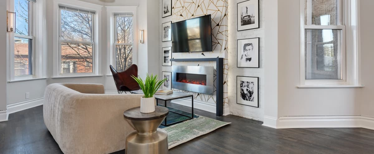 Modern and Chic 3 Bedroom Designer Roscoe Village Apartment in Chicago Hero Image in Roscoe Village, Chicago, IL