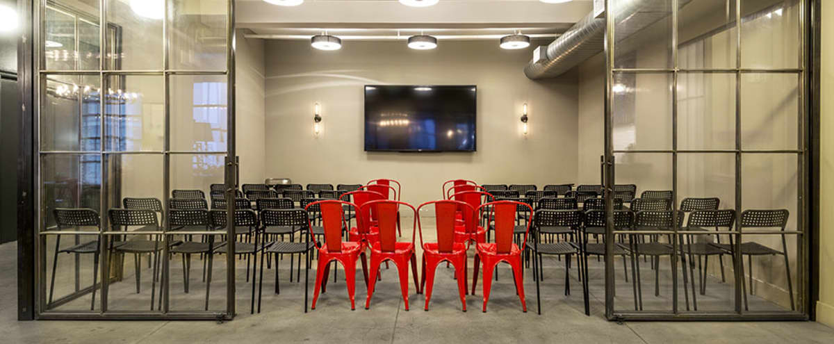 Stylish screening room studio with natural light and outdoor space - 11th Floor in New York Hero Image in Midtown, New York, NY
