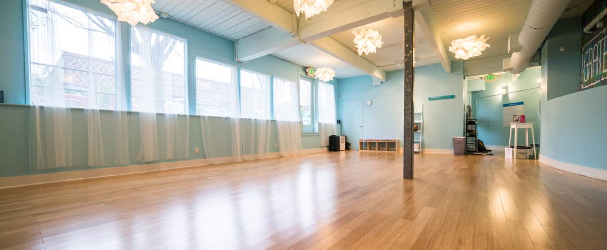 Chic Light-Filled Yoga Studio in Seattle Hero Image in Capitol Hill, Seattle, WA
