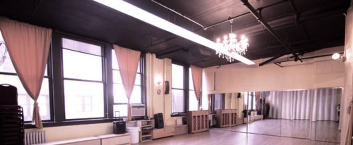Prime Location Huge Open Studios for fitness, dancing, casting calls, photo shoots, meetings, lectures, etc. in New York Hero Image in Midtown, New York, NY
