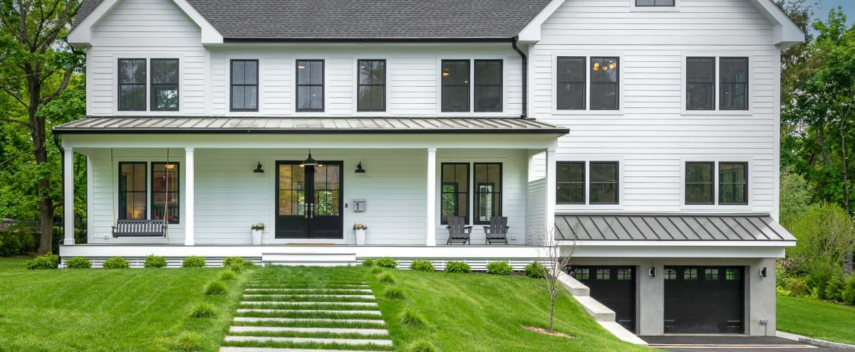 NYC suburban, light filled, airy, open, newly built, modern farmhouse in Larchmont Hero Image in undefined, Larchmont, NY