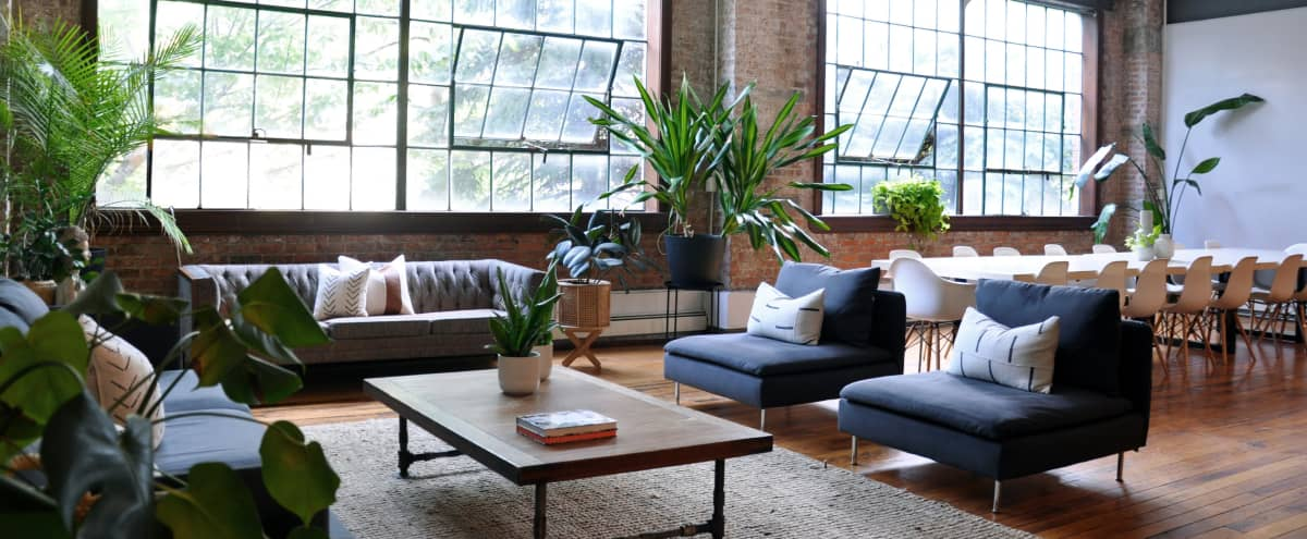 Zen Loft: 1600 SQ FT Sun Drenched Brooklyn Industrial Loft for Film & Photo Shoots + Holding Space in Brooklyn Hero Image in Clinton Hill, Brooklyn, NY