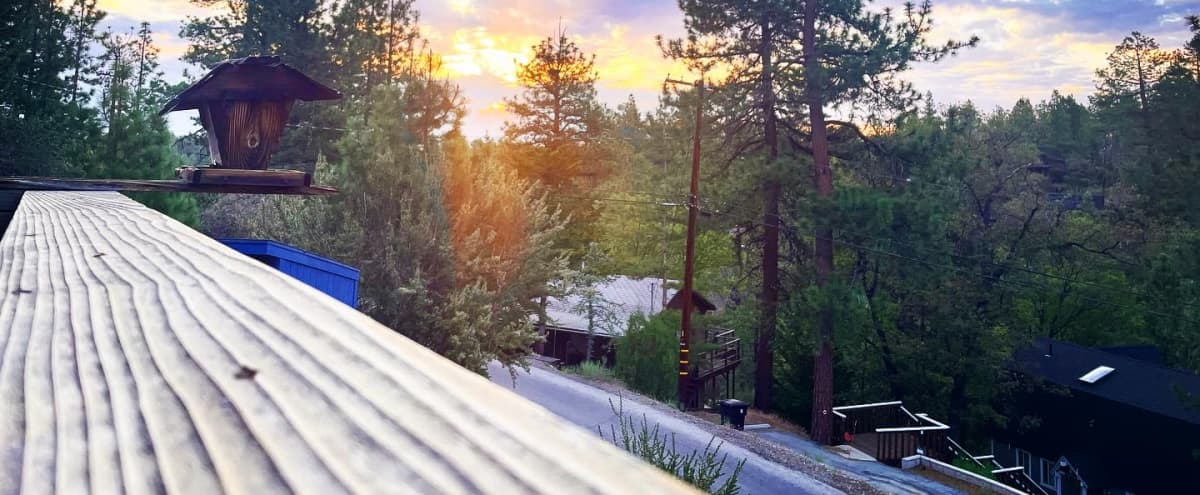 Newly renovated  Big Bear cabin with mountain top views. Rustic nature meets modern decor with lots of natural sunlight. in Big Bear City Hero Image in undefined, Big Bear City, CA