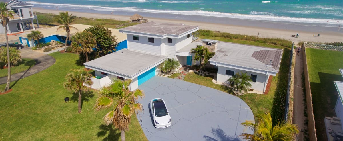 Modern Ocean-front House in the Space Coast in Indialantic Hero Image in Rossers, Indialantic, FL