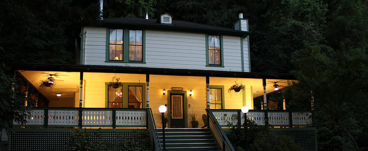 Sonoma Victorian Farmhouse in Guerneville Hero Image in undefined, Guerneville, CA