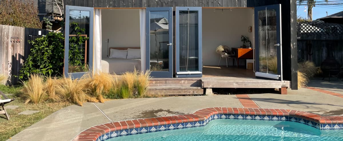Beachy Zen Bungalow with Serene Pool and Studio in Los Angeles Hero Image in Mar Vista, Los Angeles, CA