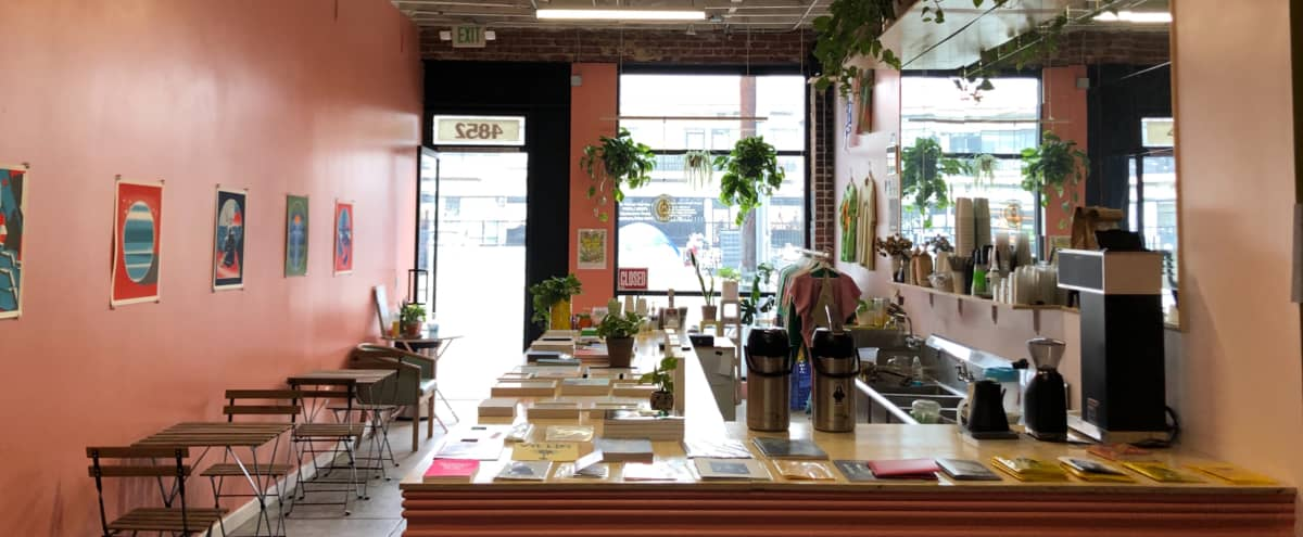 Spacious Gallery featuring TV wall and attached coffee shop! in Los Angeles Hero Image in Hollywood, Los Angeles, CA
