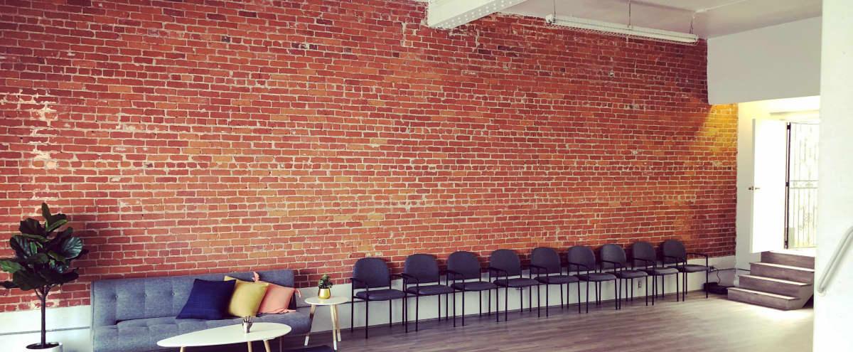 Bright & airy Soho style loft studio with exposed brick & outdoor zen garden in Los Angeles Hero Image in Central LA, Los Angeles, CA