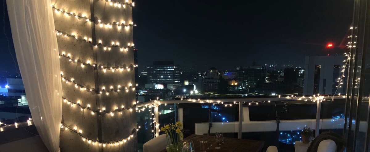 Outdoor Penthouse Sky Dining Terrace in Hollywood Hero Image in Hollywood, Hollywood, CA